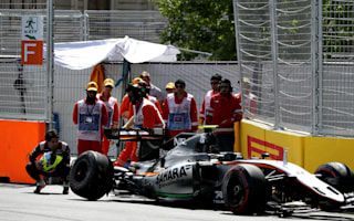 Perez crash dents Force India progress as Hamilton tops Practice Three