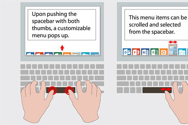 Synaptics transforma la tecla espacio en un pequeño trackpad