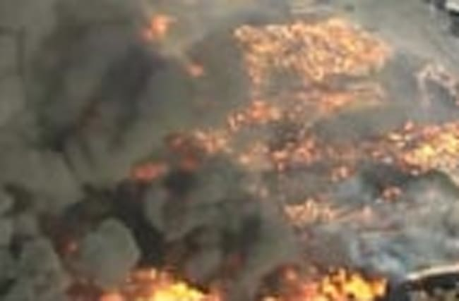 Massive fire at recyclying plant in California.