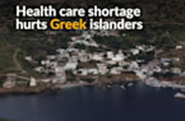 Battling health problems, Greek islanders turn to God
