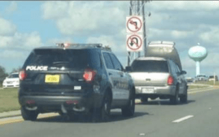 SUV drives with bonnet obstructing view