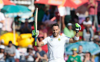 Du Plessis ends century drought, New Zealand lose openers