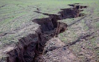 Photos: Heavy rain creates 5ft-deep landscape erosion in Devon