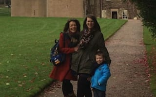 Family photobombed by 'ghost' during visit to castle