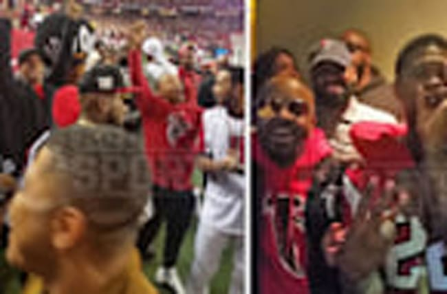 ATL FALCONS SIDELINES PACKED WITH HUGE STARS ... Usher, Ludacris, Jeezy