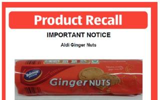 Aldi biscuits recalled over 'pest contamination' worries