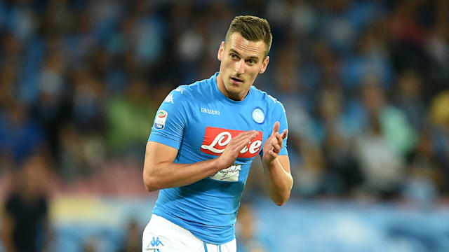 Napoli striker Milik out for 'months'