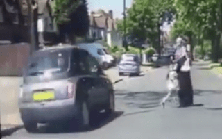 Mother pulls daughter from path of red-light running car