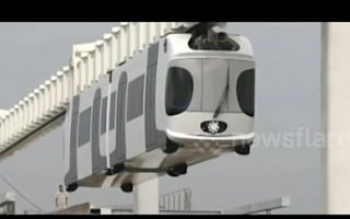 China's first suspension railway completes test run