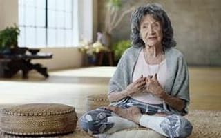 At 98, this has to be the world's oldest yoga teacher