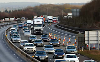 Drunk driver pulled up for a nap - in the fast lane of the M25