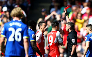 Koscielny to miss FA Cup final after seeing red against Everton