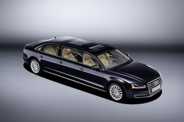 Audi unveils enormous 6-metre long, six-door A8 L