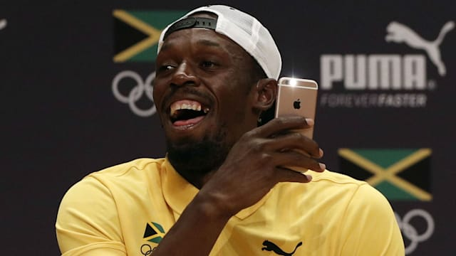 When does Usain Bolt run in the Rio Olympics?