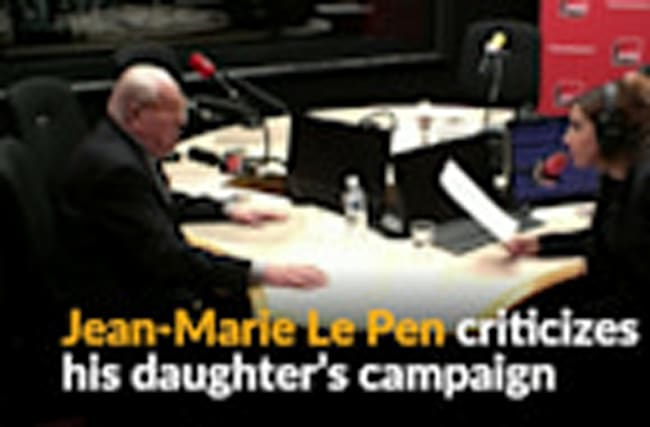 Le Pen's campaign should have been more like Trump's, says her father