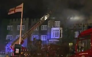 Video: Isle of Wight hotel partially collapses after fire at wedding reception