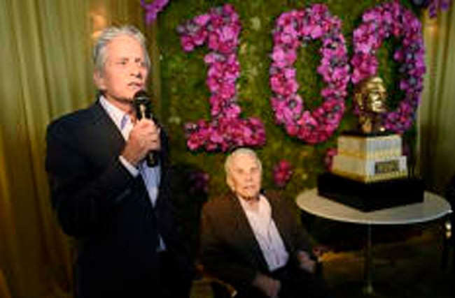 Michael Douglas' touching tribute to dad Kirk at 100th birthday party