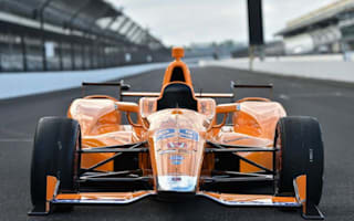 Fernando Alonso tests new McLaren Indy racer at Indianapolis