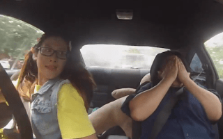 Driving instructors pranked by pro racing driver
