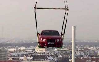 Video: New Bentley Continental flies over Germany