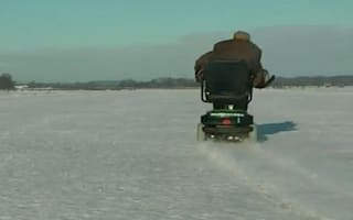 Video: World's fastest mobility scooter tops 50mph on snow