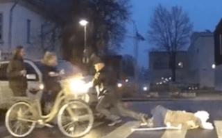 Elderly woman nearly hit by Good Samaritan's runaway car