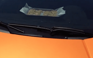 Man bakes cookies on dashboard of his Lamborghini