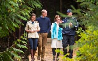 William and Kate explore remote Canadian rainforest