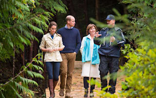William and Kate explore remote Canadian rainforest