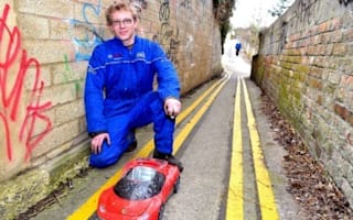 Council paints yellow lines down tiny alley