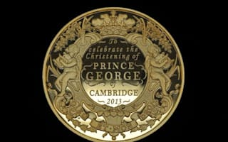 Prince George christening coin made