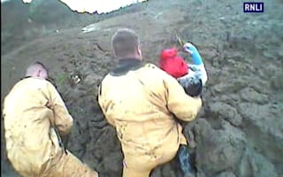 Dramatic rescue of teen girls stuck in thick mud in Kent