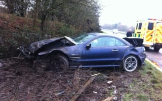 Mercedes technician crashes customer's powerful SL65 AMG