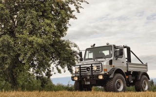 Arnie's Mercedes Unimog up for sale