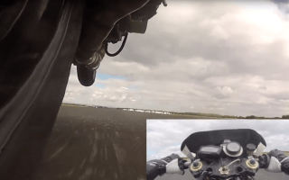 Dutch motorcyclist sets record for world's fastest wheelie