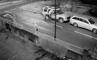 Thugs caught on camera smashing car wing mirrors near Wembley