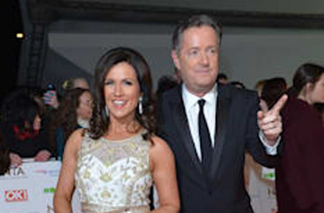 Susanna Reid and Piers Morgan in online spat over marches