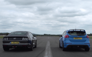 Which is the faster Ford: The Focus RS or V8 Mustang?