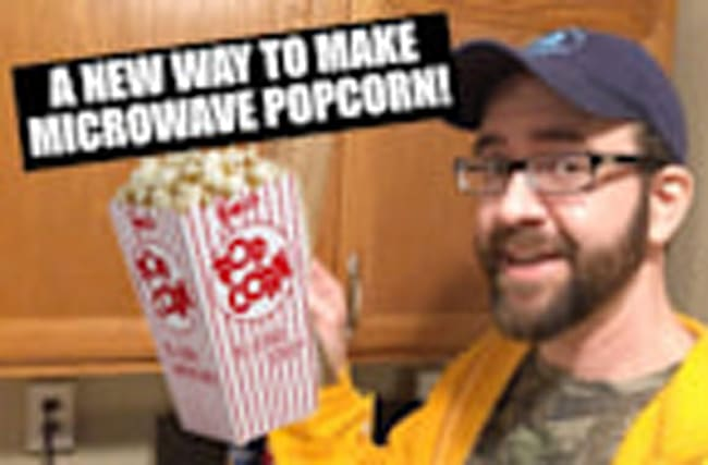 Amazing new way to make microwave popcorn