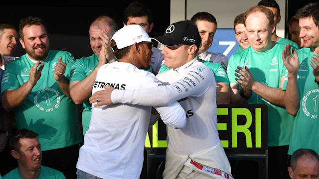 Lewis Hamilton sends heartfelt thank you to Mercedes engineers for double first
