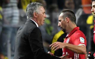 Ancelotti unhappy with Ribery performances