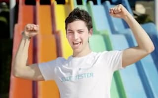 Student lands job as water slide tester