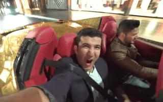 Two supercar enthusiasts blag a ride in a gold Ferrari