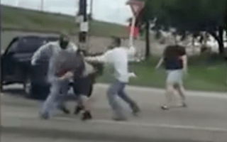 Huge road rage brawl breaks out in Houston, Texas