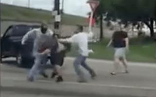 Huge road rage brawl breaks out in Houston, Texas