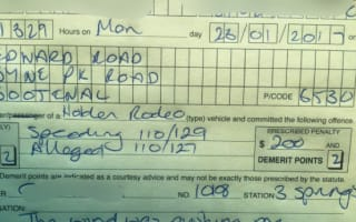 Driver blames 'wind' for pushing him over the speed limit