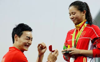 Chinese diver gets more than she expected on the Olympic medal podium after boyfriend proposes