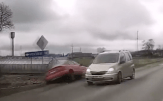 Driver running from cops ends up rolling down a bank