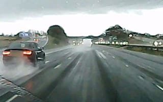 Driver with just three years' experience saves slide on M61