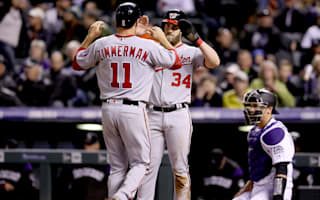 Nationals blast Rockies, Verlander bounces back